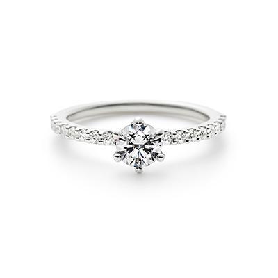 ETERNA 婚約指輪 シンプル エレガント 個性派 エタニティ パラジウム