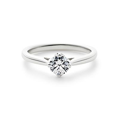 LYCKA 婚約指輪 シンプル エレガント ストレート パラジウム
