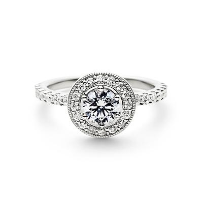 LOFTE 婚約指輪 シンプル エレガント ストレート エタニティ プラチナ