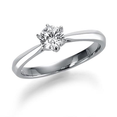 Pure 婚約指輪 シンプル エレガント ストレート プラチナ