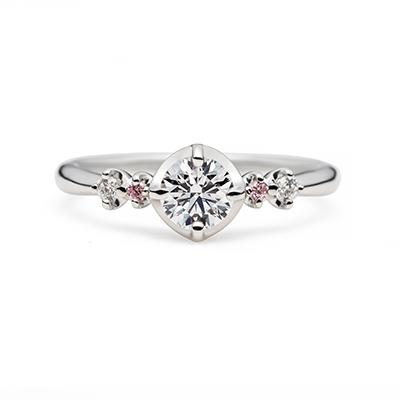 fraisierⅡ 婚約指輪 キュート ストレート プラチナ