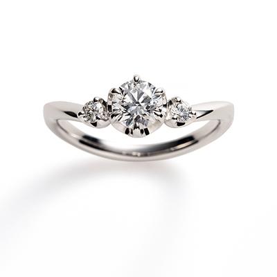 bouquet 婚約指輪 エレガント V字(ウェーブ) プラチナ