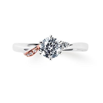 plume 婚約指輪 エレガント S字(ウェーブ) プラチナ