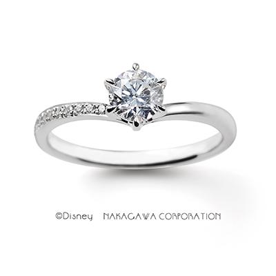 anna&elsa 婚約指輪 キュート V字(ウェーブ) プラチナ
