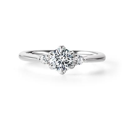 SAKI 婚約指輪 エレガント キュート ストレート プラチナ