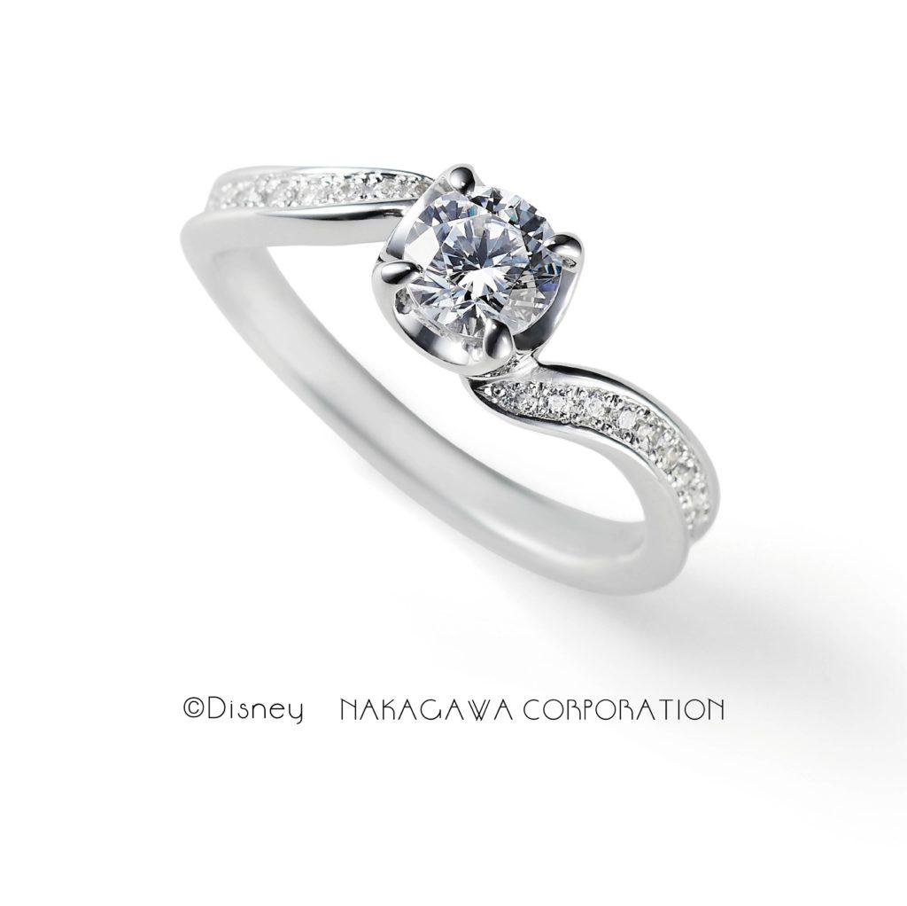 shellfish 婚約指輪 エレガント キュート S字(ウェーブ) プラチナ
