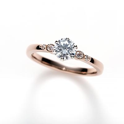 Batida de Cacao 婚約指輪 エレガント キュート ストレート ピンクゴールド