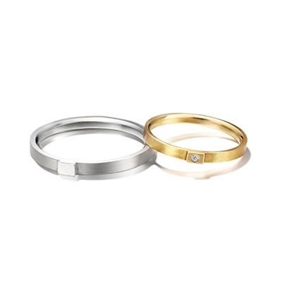 chigo 結婚指輪 シンプル ストレート イエローゴールド ホワイトゴールド