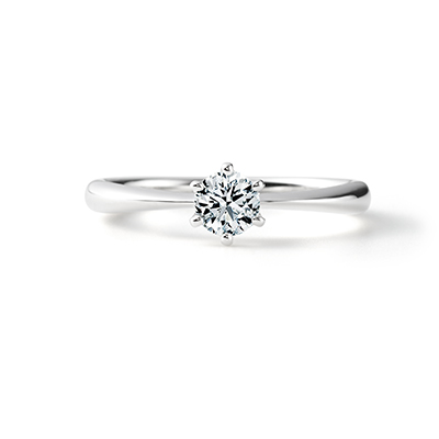 Serendipity 婚約指輪 シンプル ストレート プラチナ