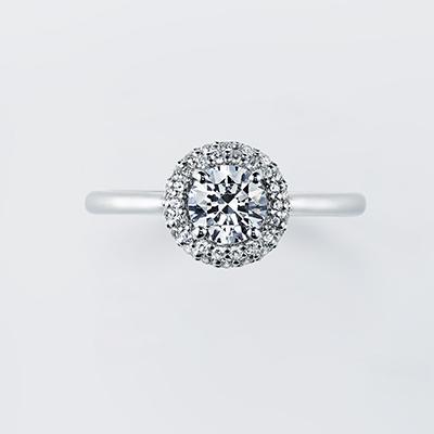 Daisy 婚約指輪 シンプル エレガント ストレート プラチナ
