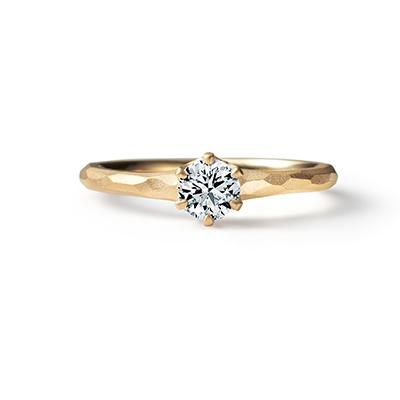 Prism 婚約指輪 エレガント 個性派 ストレート イエローゴールド