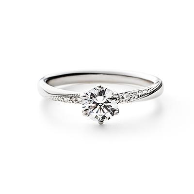 LUKAS 婚約指輪 エレガント アンティーク  プラチナ