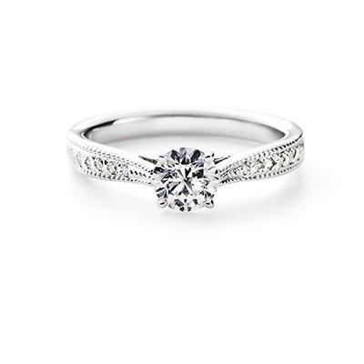 SPROSS 婚約指輪 エレガント アンティーク ストレート プラチナ