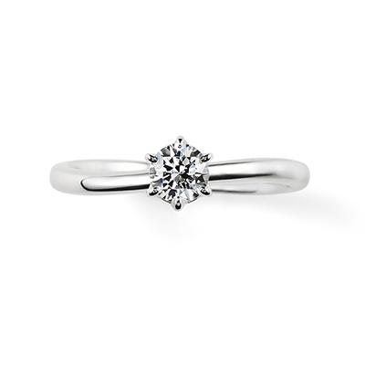 Swear 婚約指輪 シンプル S字(ウェーブ) プラチナ