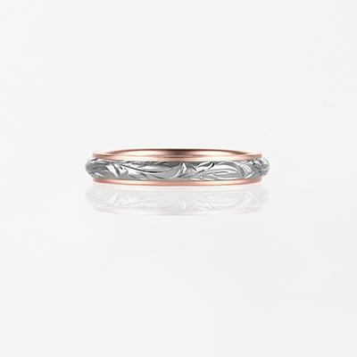 Mana-Twotone Barrel- 結婚指輪 シンプル 個性派 ストレート コンビ