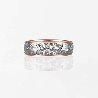 Lala Mauloa-Twotone Barrel- 結婚指輪 シンプル 個性派 ストレート 幅広 コンビ