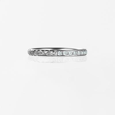 Maka-Plain Barrel- 結婚指輪 個性派 ストレート プラチナ