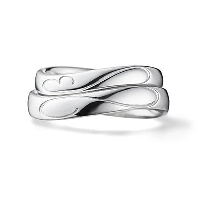 initial 結婚指輪 シンプル S字(ウェーブ) プラチナ