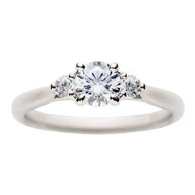 swan 婚約指輪 シンプル エレガント ストレート プラチナ