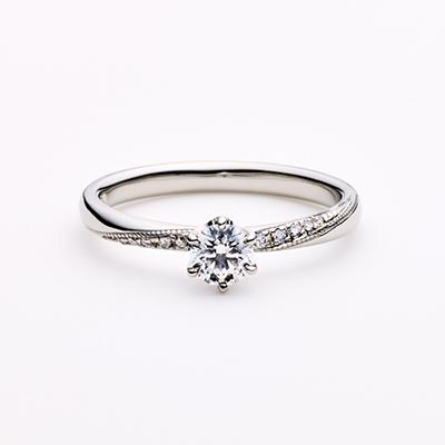 LUKAS 婚約指輪 シンプル エレガント ストレート プラチナ