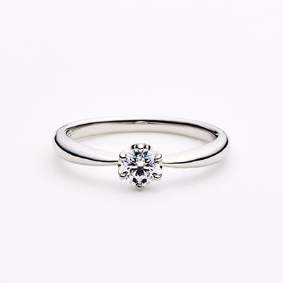 LYCKA 婚約指輪 キュート 個性派 ストレート プラチナ