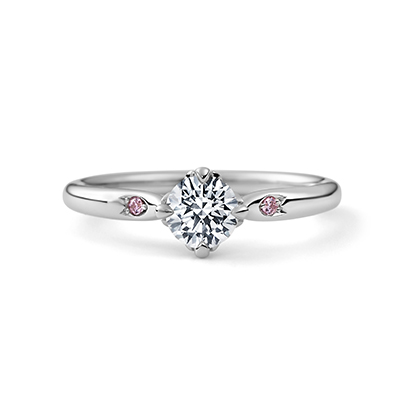 HANADAYORI 婚約指輪 キュート 個性派 ストレート プラチナ