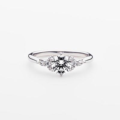 PROPOSTA 婚約指輪 エレガント 個性派 ストレート プラチナ