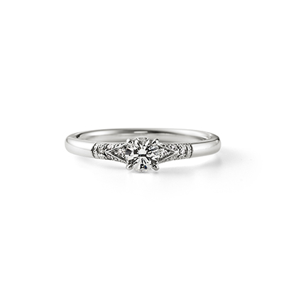 Grow 婚約指輪 シンプル エレガント アンティーク ストレート プラチナ