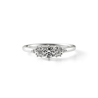 Tear Drop 婚約指輪 シンプル エレガント アンティーク ストレート プラチナ