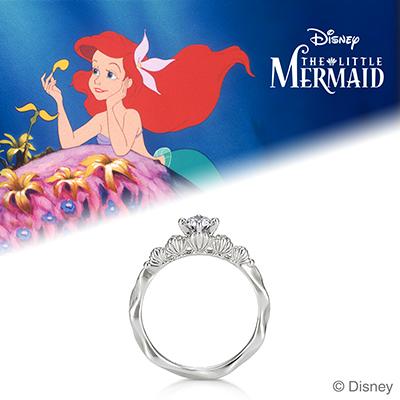 A mermaid in love 婚約指輪 エレガント キュート ストレート プラチナ