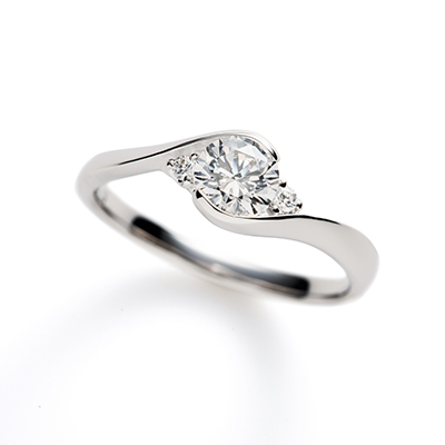 ParisienⅡ 婚約指輪 エレガント キュート S字(ウェーブ) プラチナ