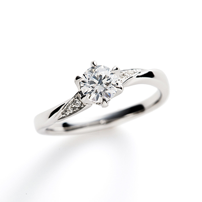 MartiniⅡ 婚約指輪 エレガント キュート S字(ウェーブ) プラチナ