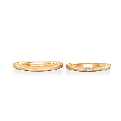 souvenir  結婚指輪 アンティーク ストレート イエローゴールド