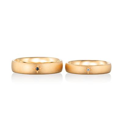 etoile 結婚指輪 アンティーク 個性派 ストレート 幅広 イエローゴールド