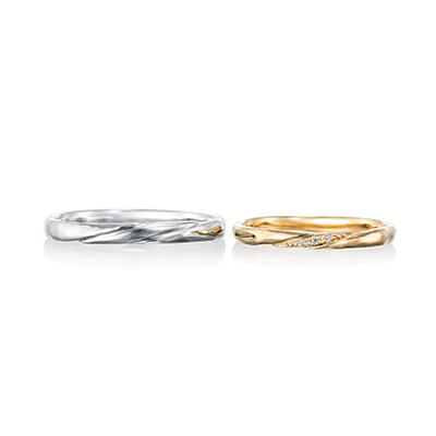 Felicite  結婚指輪 アンティーク ストレート イエローゴールド ホワイトゴールド