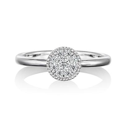 Ravissant  婚約指輪 エレガント アンティーク ストレート プラチナ