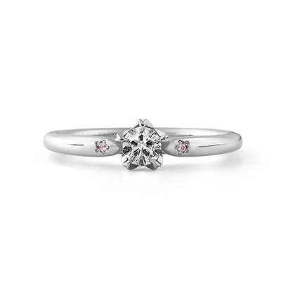 SOMEZAKURA 婚約指輪 シンプル エレガント キュート 個性派 ストレート プラチナ
