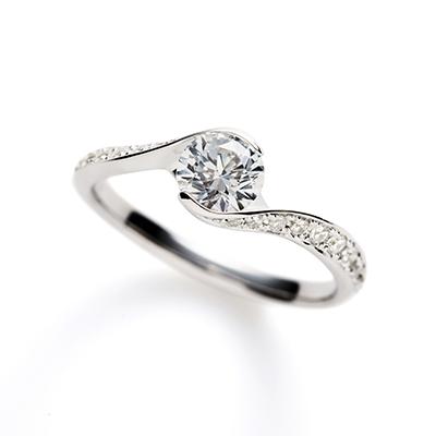 ParisienⅢ 婚約指輪 エレガント キュート S字(ウェーブ) プラチナ