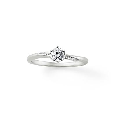 All my love 婚約指輪 シンプル S字(ウェーブ) プラチナ