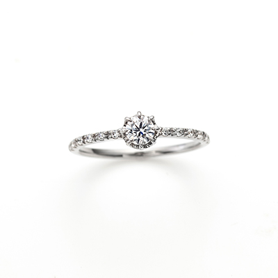 White heaven 婚約指輪 シンプル ストレート エタニティ プラチナ