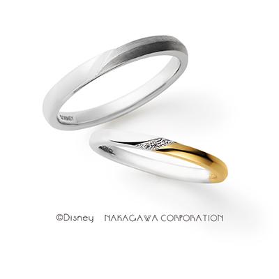 trust me 結婚指輪 シンプル キュート 個性派 ストレート プラチナ イエローゴールド コンビ