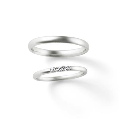 White heaven 結婚指輪 シンプル エレガント ストレート プラチナ