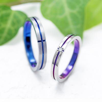 CONTACT 結婚指輪 シンプル 個性派 ストレート ジルコニウム