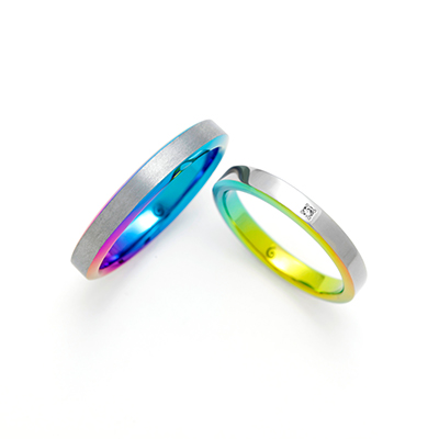SLOPE 結婚指輪 シンプル 個性派 ストレート ジルコニウム
