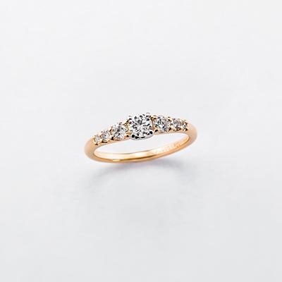 coffret 婚約指輪 エレガント ストレート プラチナ イエローゴールド
