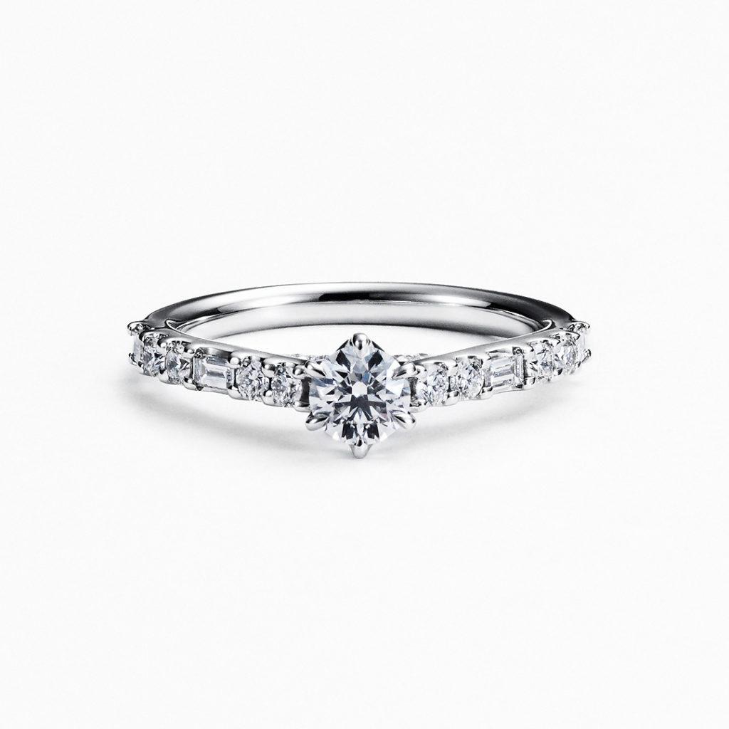 ORBITE 婚約指輪 キュート ストレート エタニティ プラチナ