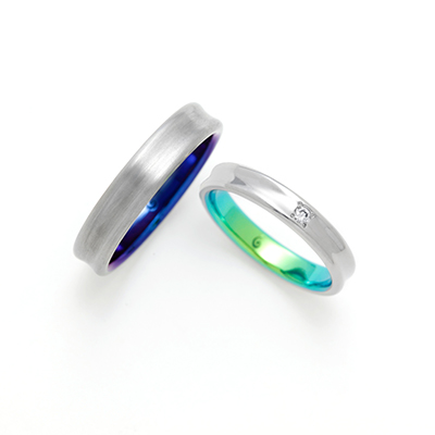 COL 結婚指輪 シンプル 個性派 ストレート ジルコニウム