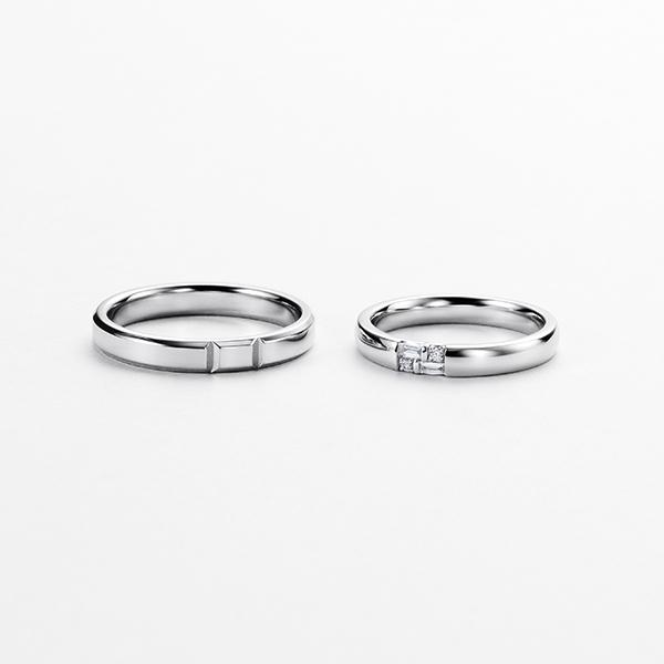 ISTANTE 結婚指輪 シンプル ストレート プラチナ