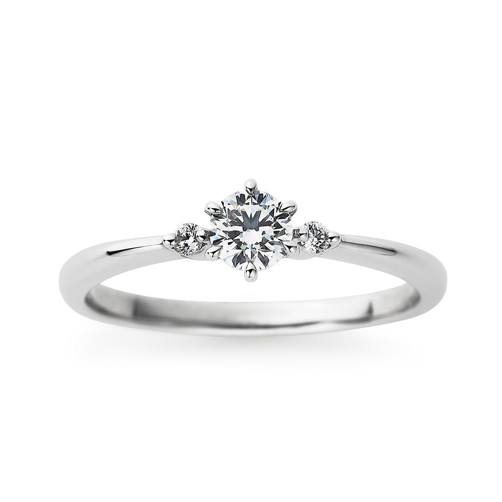 Tree 婚約指輪 シンプル キュート ストレート プラチナ