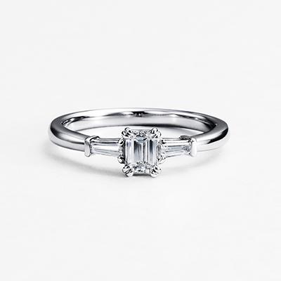 CONSTELACION 婚約指輪 シンプル ストレート プラチナ